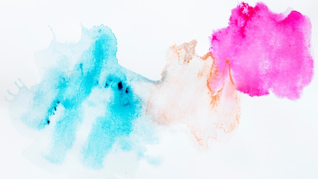 Taches colorées de conception abstraite
