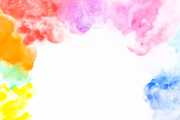 Taches colorées et lisses