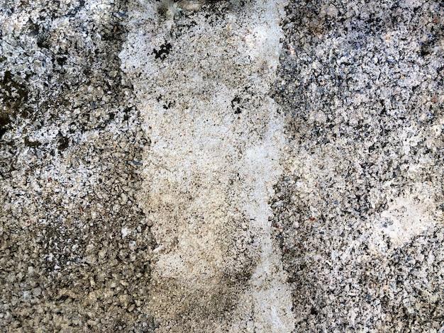 Taches sales et fissure mur blanc