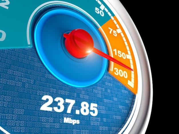 Tachymètre de connexion internet
