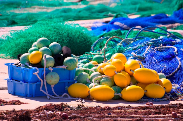 Tacle de pêche dans les îles méditerranéennes de formentera