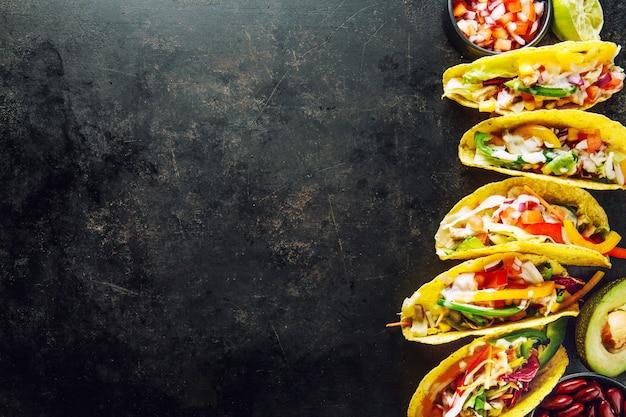 Tacos appétissants aux légumes