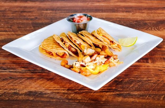Tacos du petit déjeuner