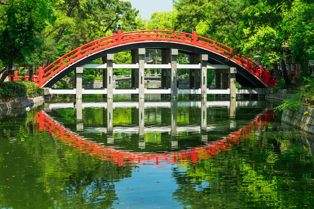 Taiko bashi connu sous le nom de drum bridge, osaka