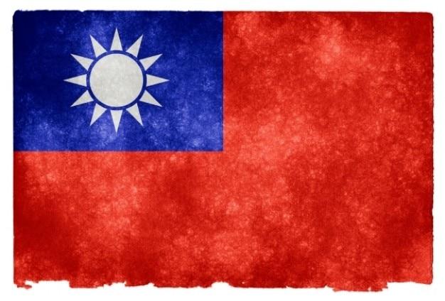 Taiwan flag grunge