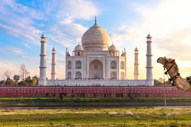 Taj mahal, lieu exotique de l'inde, agra.