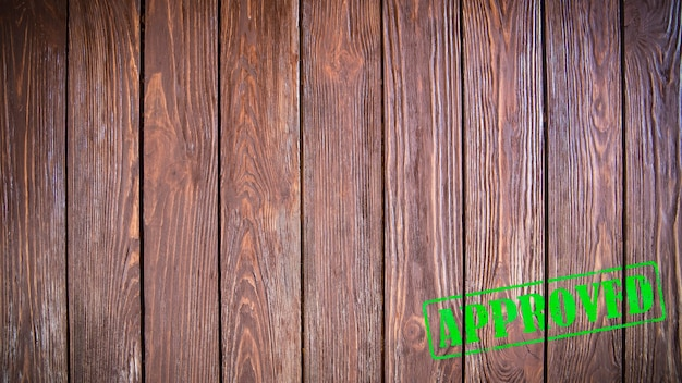 Tampon approuvé sur bois