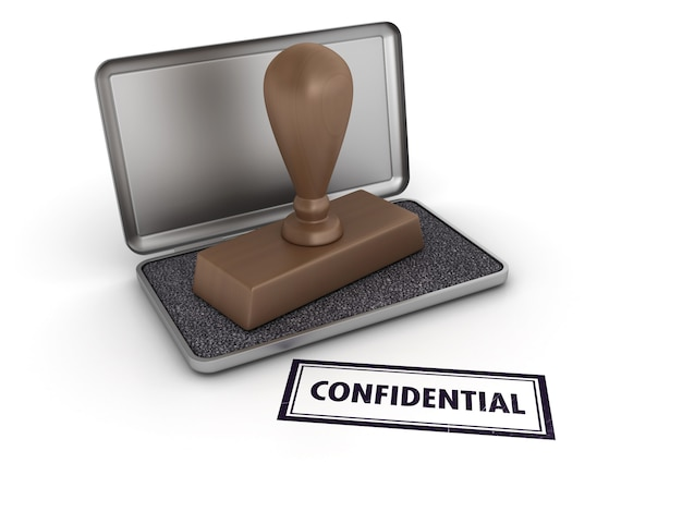 Tampon en caoutchouc confidentiel