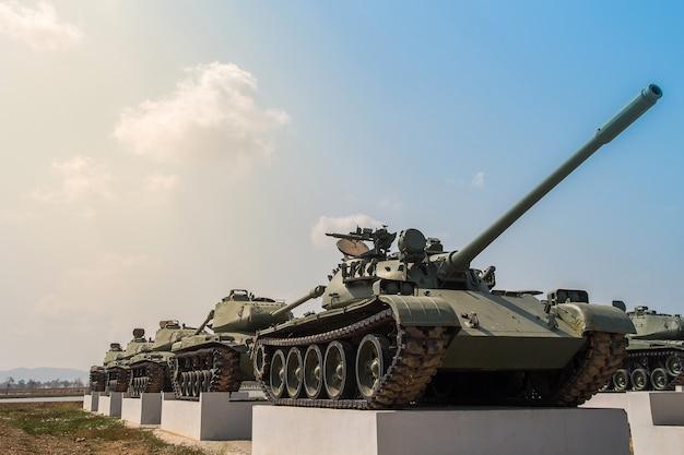 Tank militaire dans le musée à ciel ouvert, spectacle ouvert