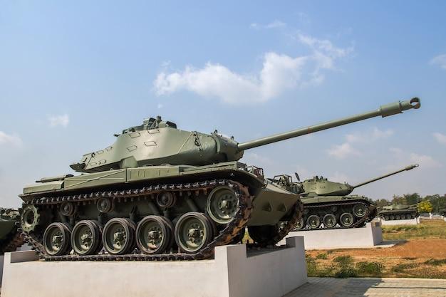 Tank militaire dans le musée à ciel ouvert