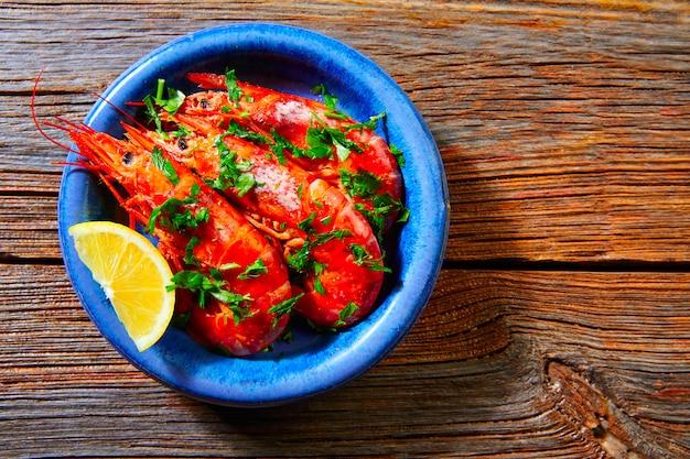 Tapas crevettes crevettes fruits de mer d'espagne