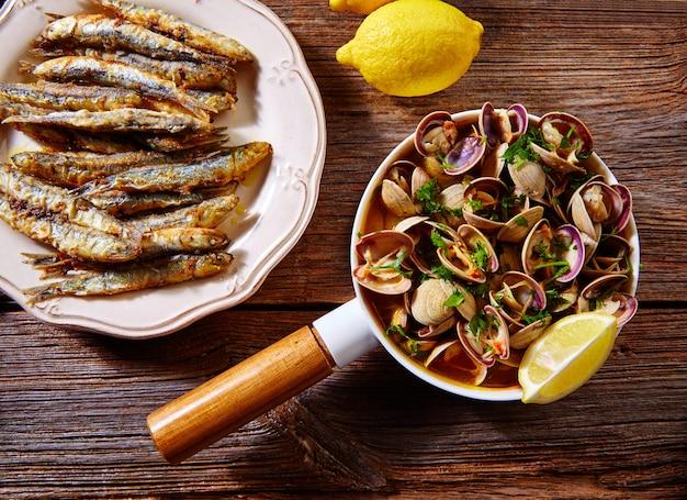 Tapas de fruits de mer espagnols aux anchois