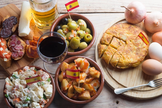 Tapas typique de la cuisine espagnole