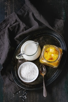 Tapioca à la mangue