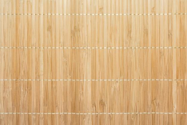 Tapis de bambou comme fond naturel
