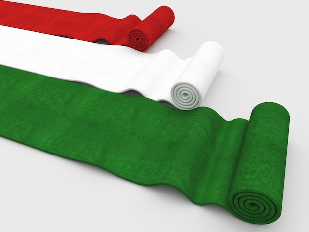Tapis drapeau italien