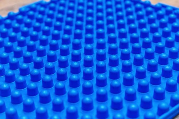 Tapis orthopédiques de massage bleus