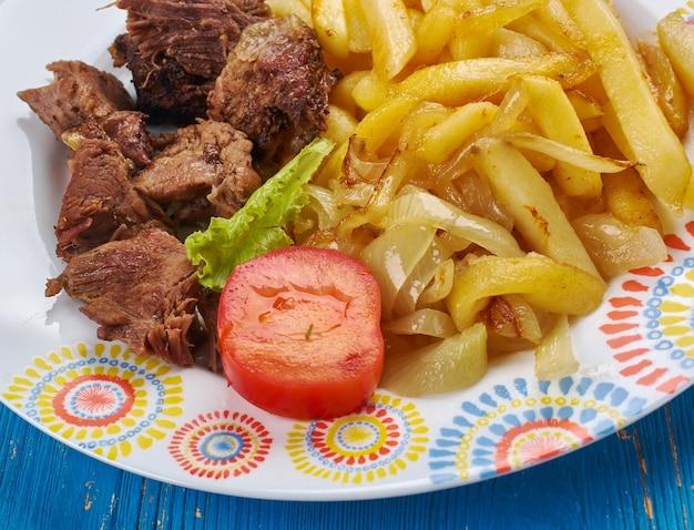 Tarifi kebabi turc , plat d'agneau aux légumes