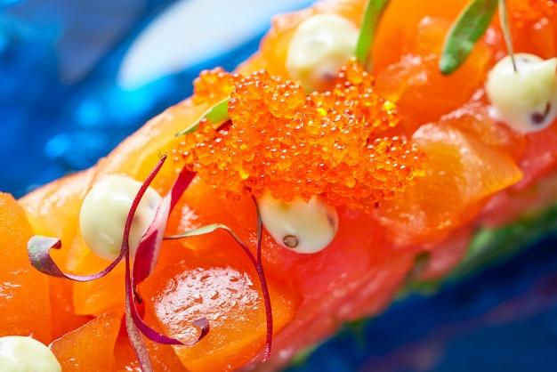 Tartare de saumon et avocat au soja