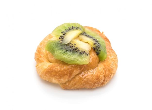 Tarte au kiwi sur blanc