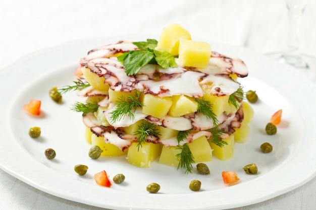 Tarte au pieuvre aux pommes de terre