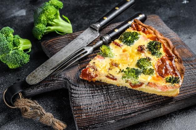Tarte au saumon fumé et brocoli