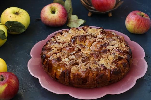 Tarte au sucre maison aux pommes