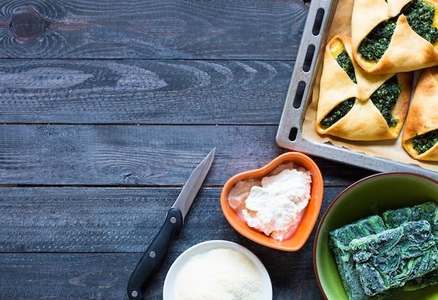 Tarte aux épinards avec fromage ricotta