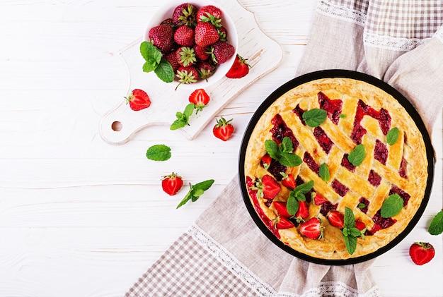 Tarte aux fraises américaine