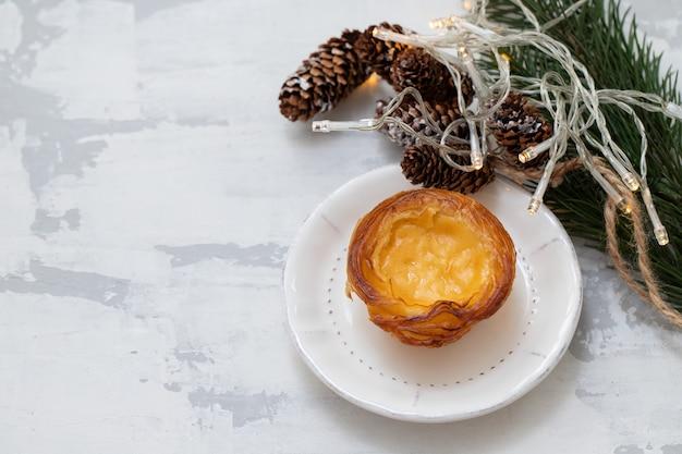 Tarte aux oeufs portugais typique pastel de nata