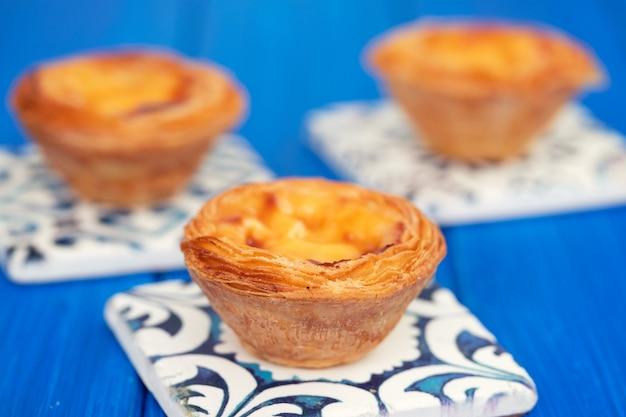 Tarte aux oeufs portugaise pastel de nata