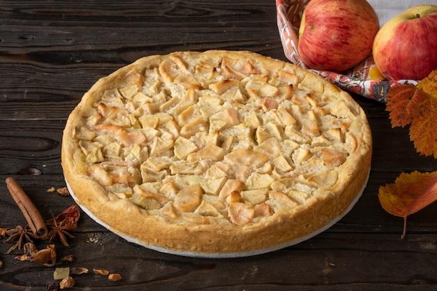 Tarte aux pommes maison charlotte aux pommes rouges et jaunes