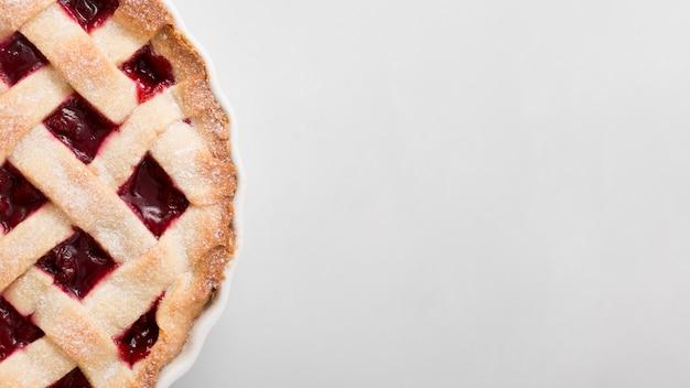 Tarte à la confiture de fraises et espace copie