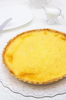 Tarte à la crème sucrée ou tarte au citron