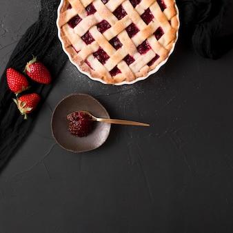 Tarte délicieuse et beurre de fraise