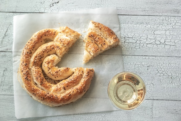 Tarte phyllo en spirale avec feta