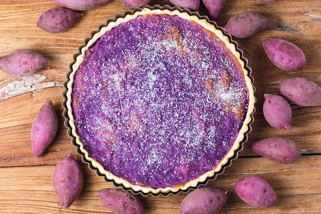 Tarte à la pomme de terre violette, pomme de terre violette
