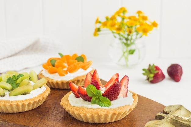 Tartes aux fruits délicieux