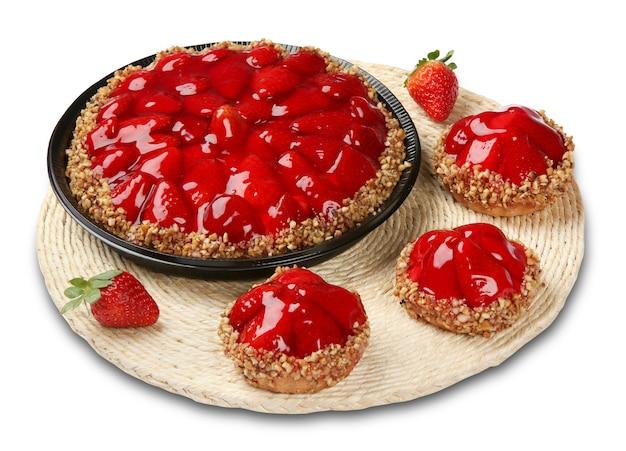 Tartes dessert aux fraises sucrées