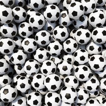 Tas de balles de football