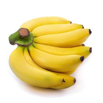 Tas de bananes isolé sur fond blanc