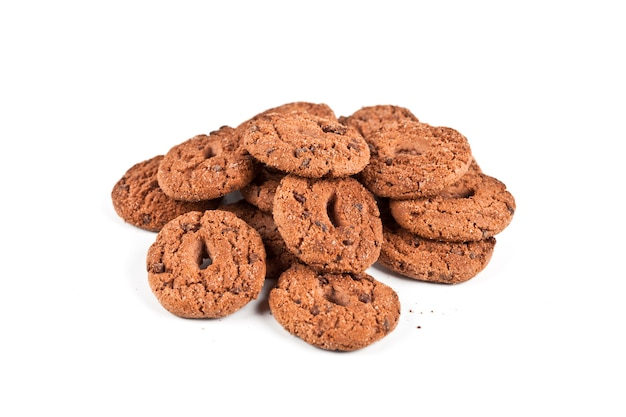 Tas de biscuits double aux pépites de chocolat