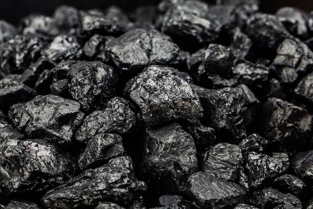 Tas de charbon en arrière-plan, vue de dessus