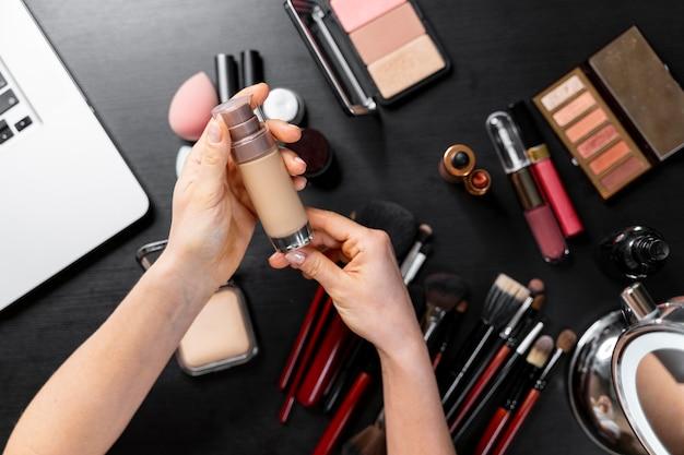 Tas de cosmétiques pour vlogger de beauté