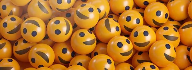 Un tas d'émoticônes smiley.
