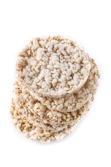 Tas de gâteaux de riz soufflé