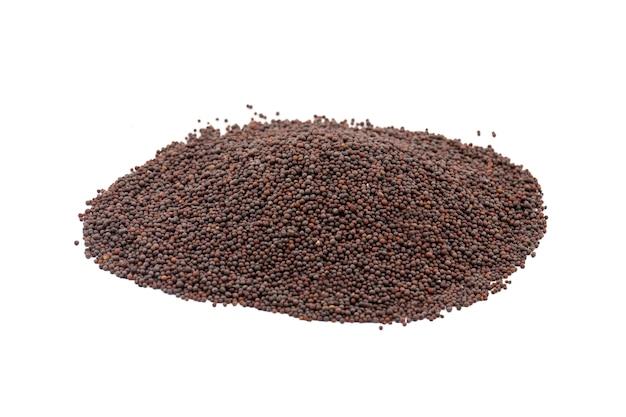 Tas de graines de moutarde brune