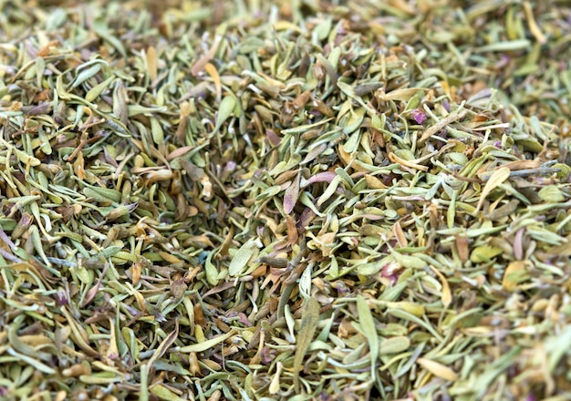 Tas d'herbe séchée