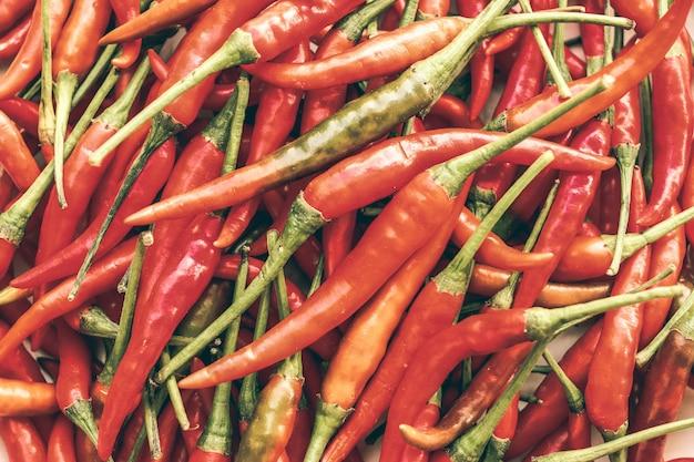Tas de piments rouges chauds fond et modèle