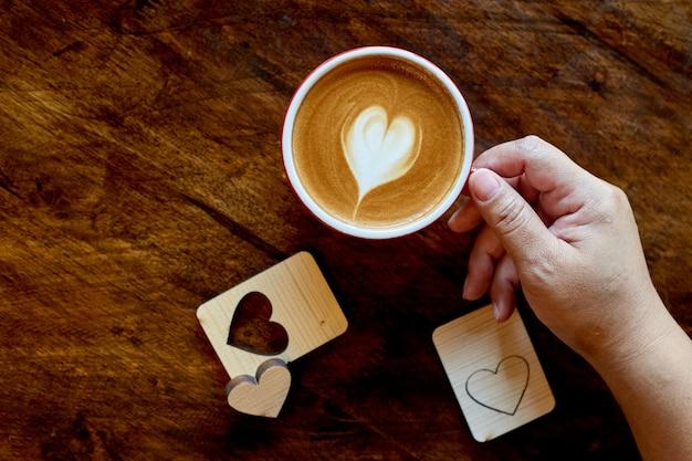 Tasse de café au lait au café